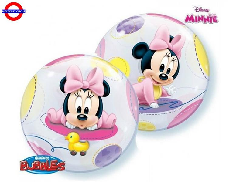 MYLAR MINNIE BUBBLES 22