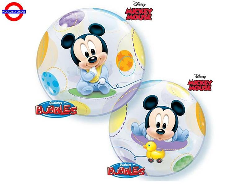 MYLAR MICKEY BUBBLES 22