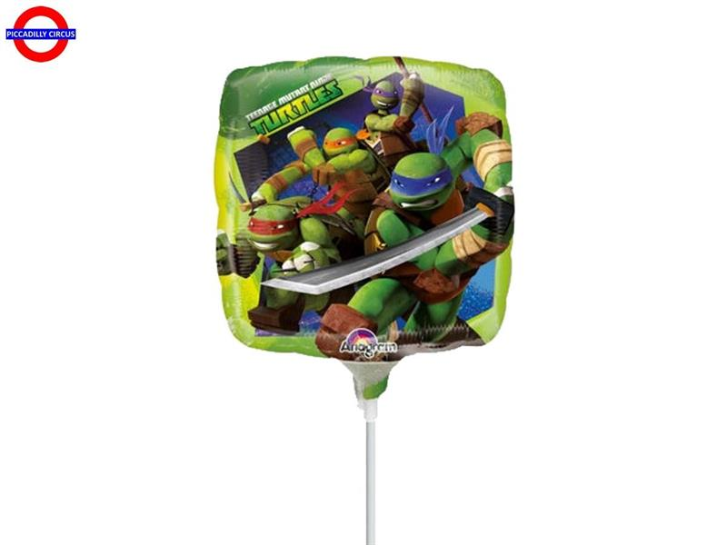 MYLAR NINJA TURTLES MINI SHAPE