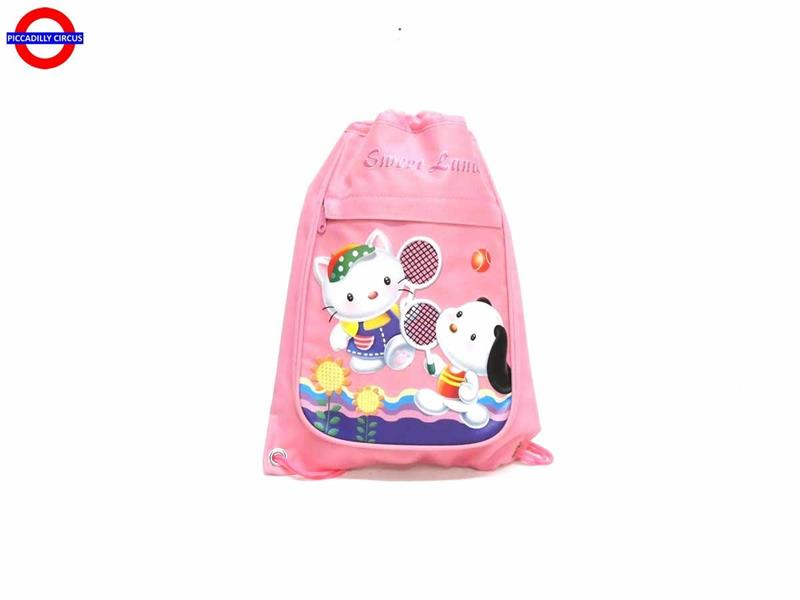 SACCA SWEET LAND ROSA CM.27X37 2 SCOMPARTI