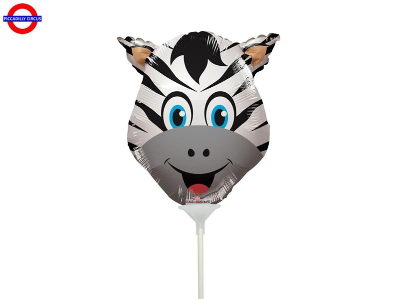 MYLAR ANIMAL MINI SHAPE TESTA ZEBRA