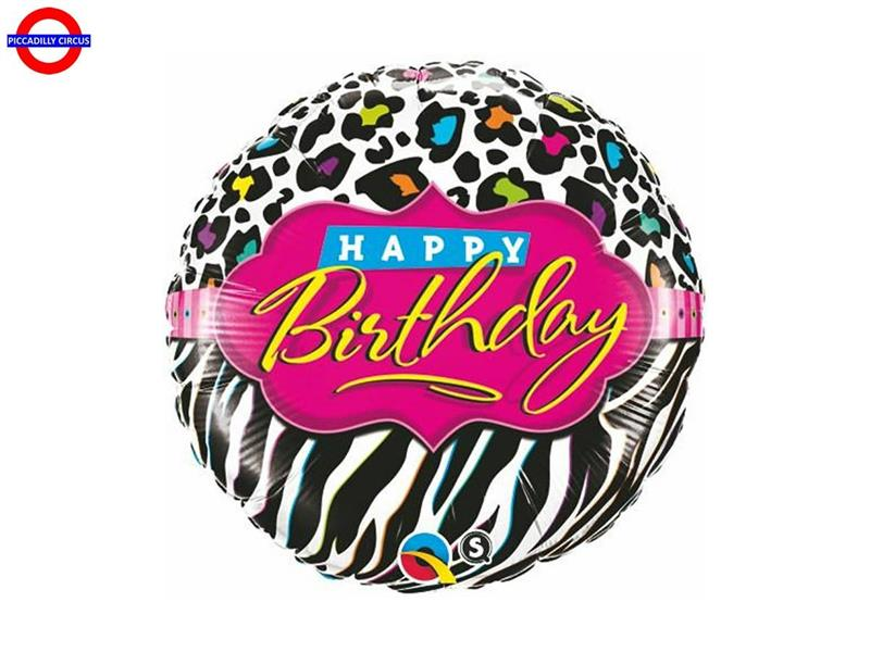 MYLAR HAPPY BIRTHDAY 18 FASHION STRIPES