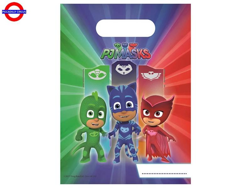 PJ MASKS 6 PARTY BAGS
