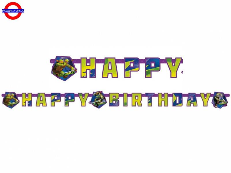 NINJA TURTLES FESTONE HAPPY BIRTHDAY MT.1.8