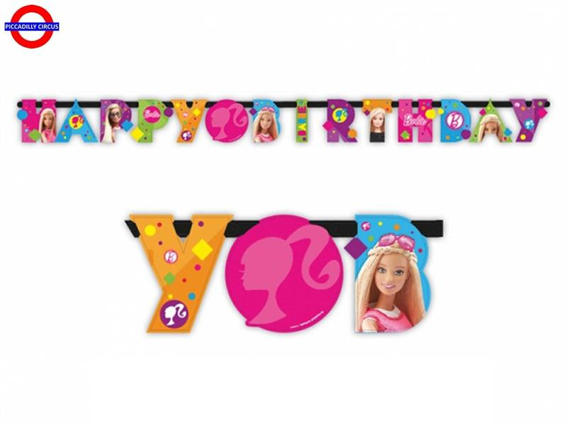 BARBIE FESTONE HAPPY BIRTHDAY