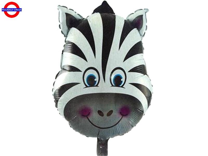 MYLAR ANIMAL SUPER SHAPE TESTA ZEBRA