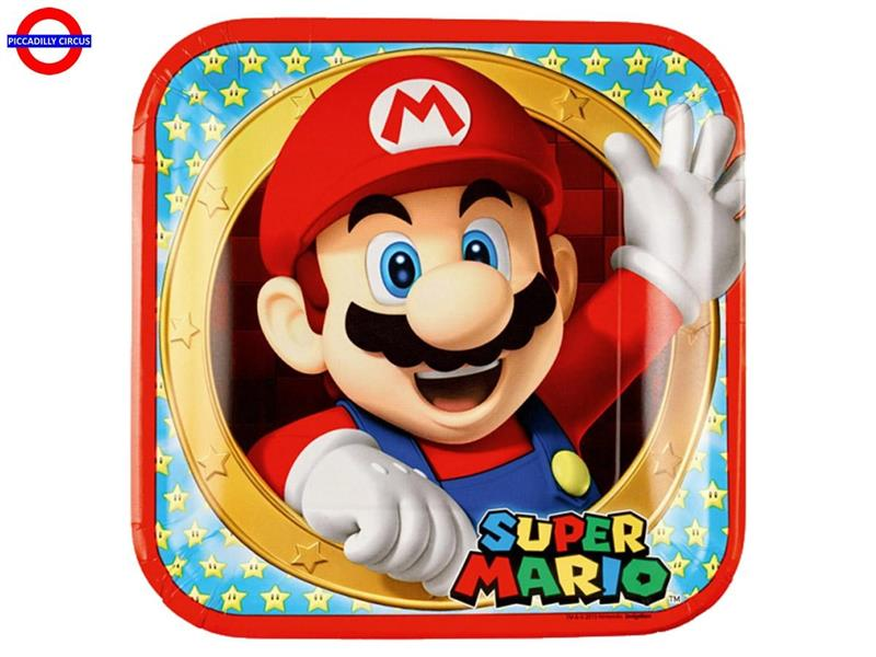 SUPER MARIO NEW 8 PIATTI 23X23