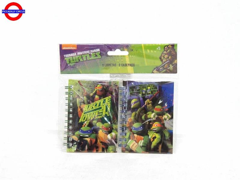 NOTES NINJA TURTLES BL.2 PEZZI