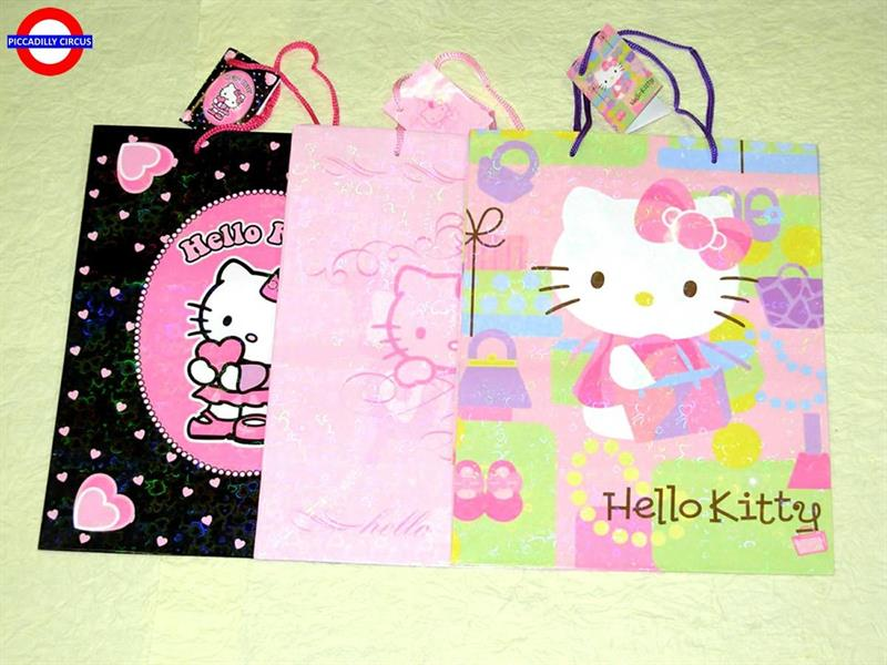 SHOPPER HELLO KITTY 18X22X10 3 ASS.