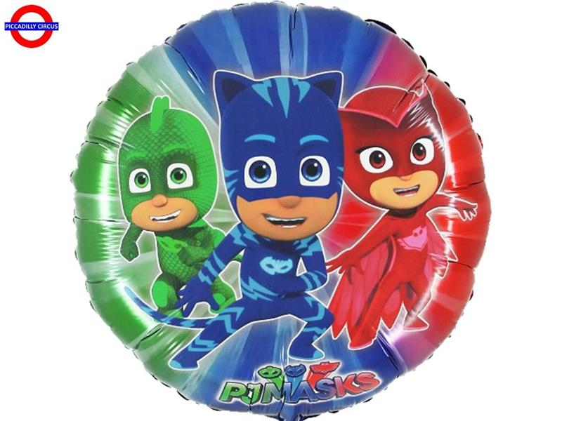MYLAR PJ MASKS SUPER SHAPE TONDO 24