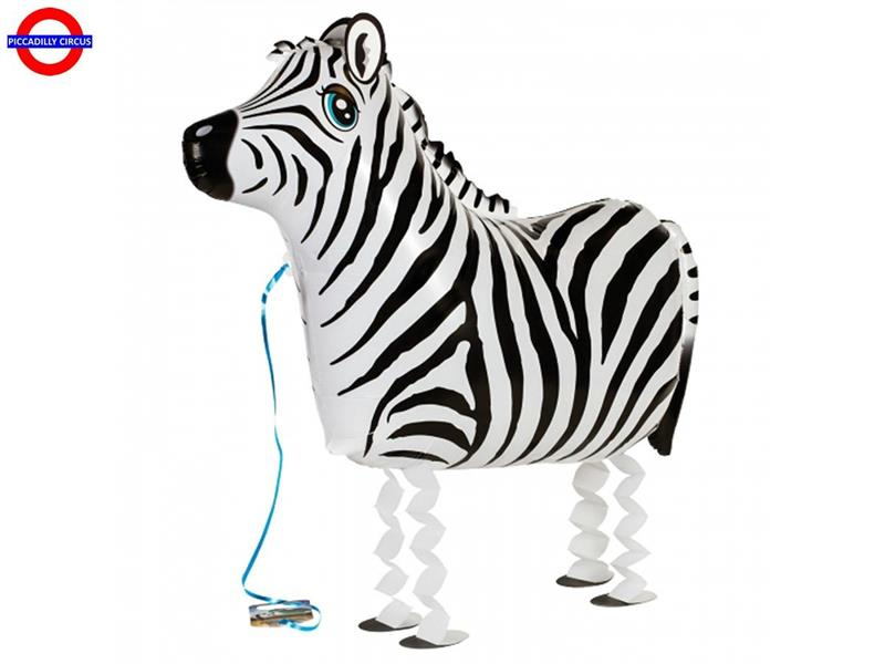 MYLAR ANIMAL ZEBRA AIRWALKER