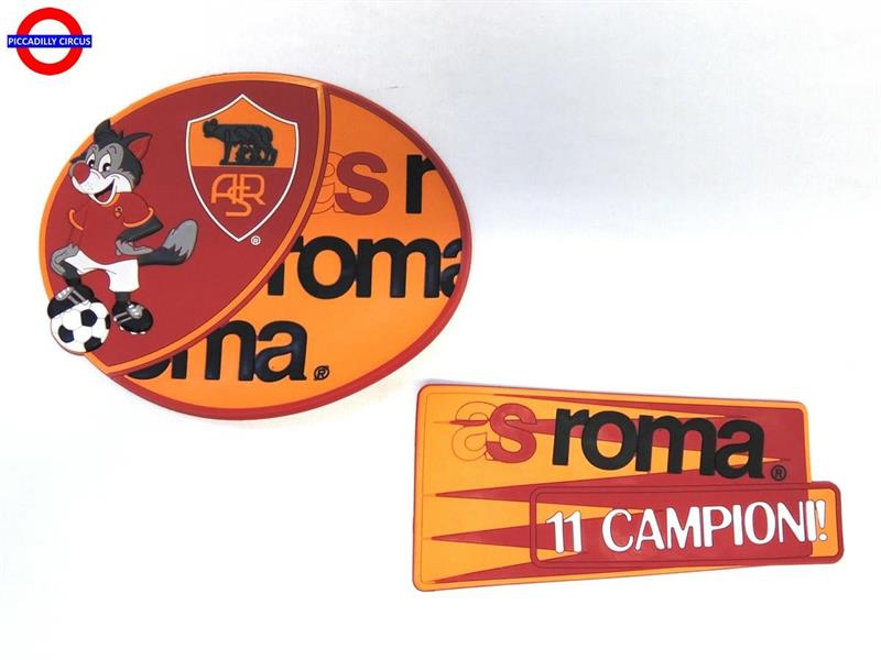 AS ROMA TARGA PVC 2 ASSORTITE
