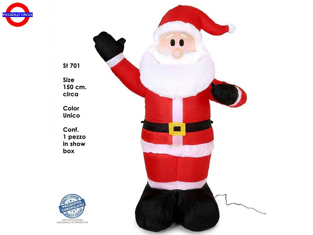 Decorazioni Natalizie Gonfiabili.Babbo Natale Gonfiabile Cm 150 Decorazioni Natale Piccadilly Circus
