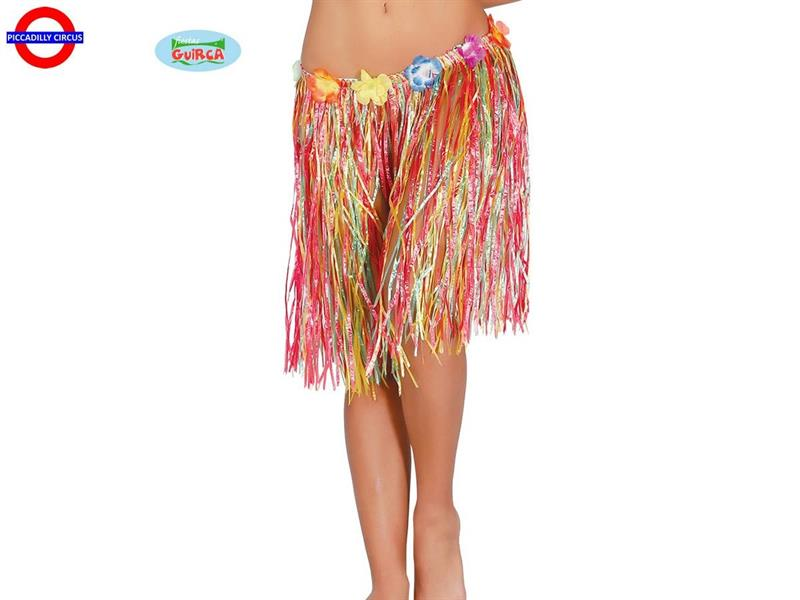 HAWAIIANA GONNA FIORI MULTICOLOR CM.50