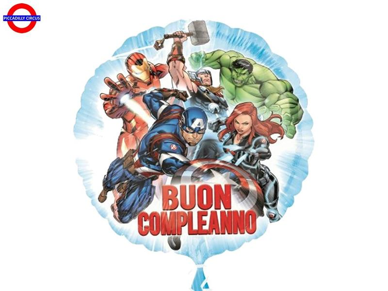 MYLAR AVENGERS 18 BUON COMPLEANNO