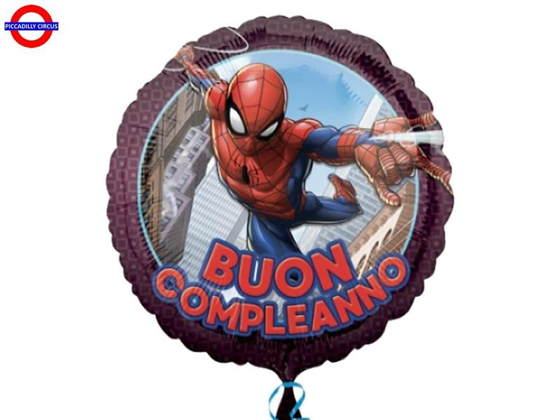 MYLAR SPIDERMAN 18 BUON COMPLEANNO