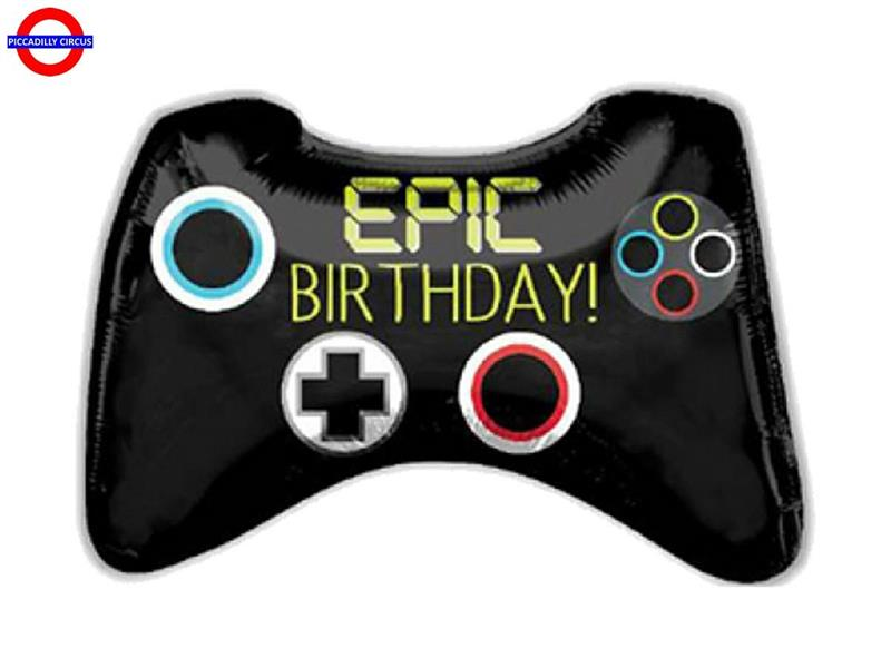 MYLAR JOYSTICK SUPER SHAPE EPIC BIRTHDAY 28