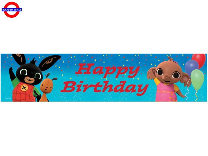 BING BANNER OLOGRAFICO HAPPY BIRTHDAY 20X270 CM